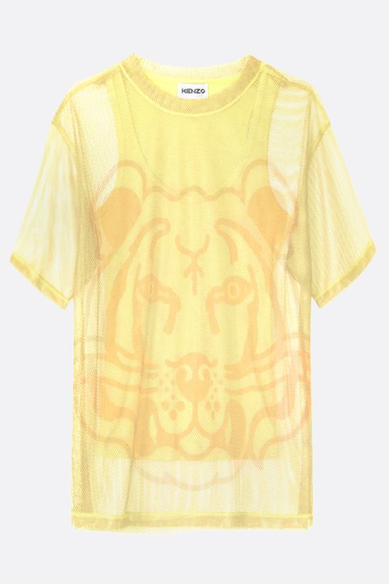 KENZO: K-Tiger oversize mesh t-shirt with matching tank top Color Yellow_1