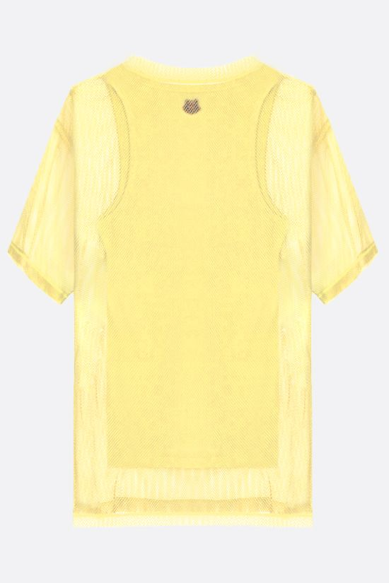 KENZO: K-Tiger oversize mesh t-shirt with matching tank top Color Yellow_2