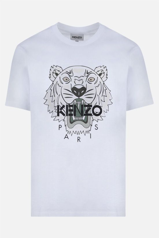 KENZO: Tiger cotton t-shirt Color White_1