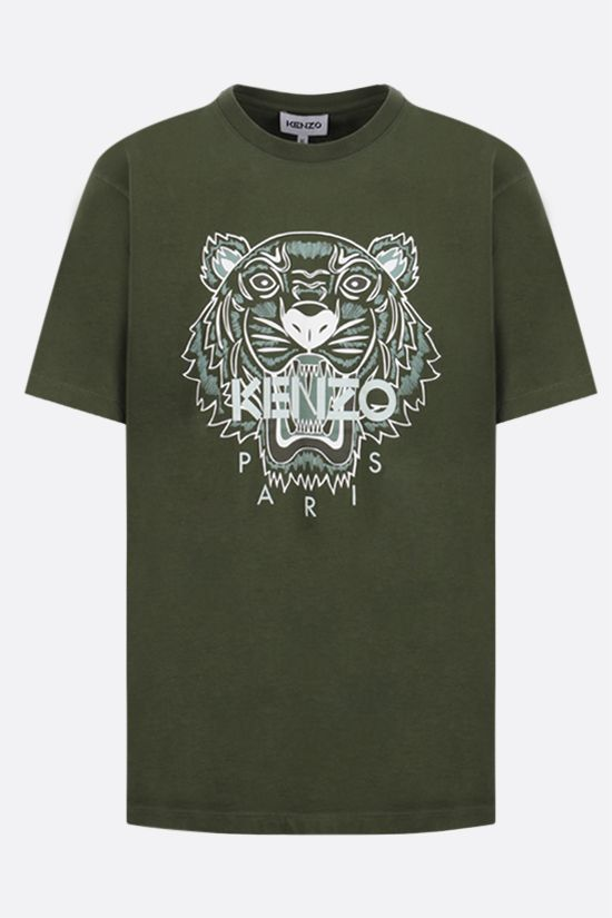 KENZO: Tiger cotton t-shirt Color Brown_1