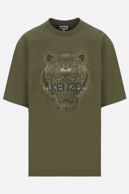 KENZO: t-shirt oversize Gradient Tiger in cotone Colore Marrone_1