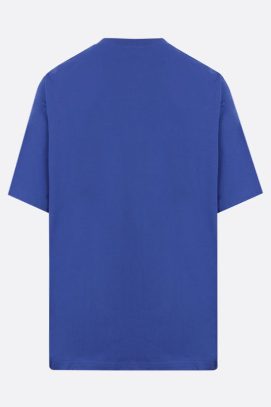 KENZO: Light Tiger oversize cotton t-shirt Color Blue_2