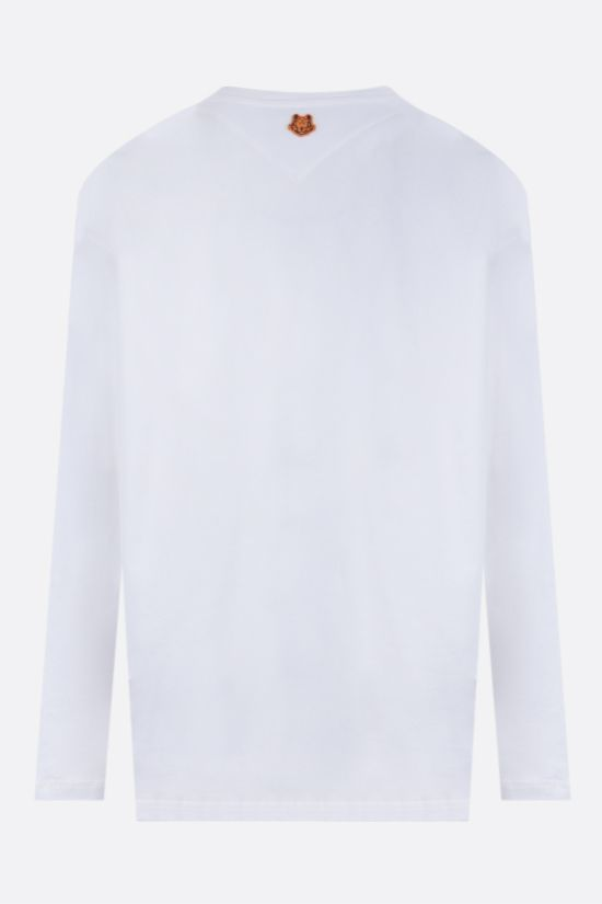KENZO: Poppy long-sleeved cotton t-shirt Color White_2