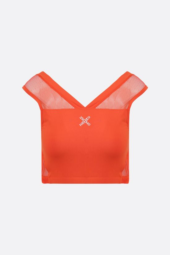 KENZO: Kenzo Sport mesh and nylon bra Color Orange_1