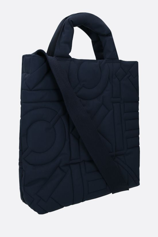 KENZO: quilted nylon tote bag Color Blue_2