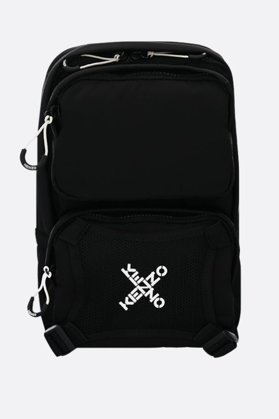 KENZO: Kenzo Sport nylon one-shoulder backpack Color Black_1