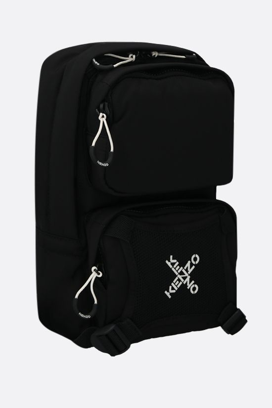KENZO: Kenzo Sport nylon one-shoulder backpack Color Black_2