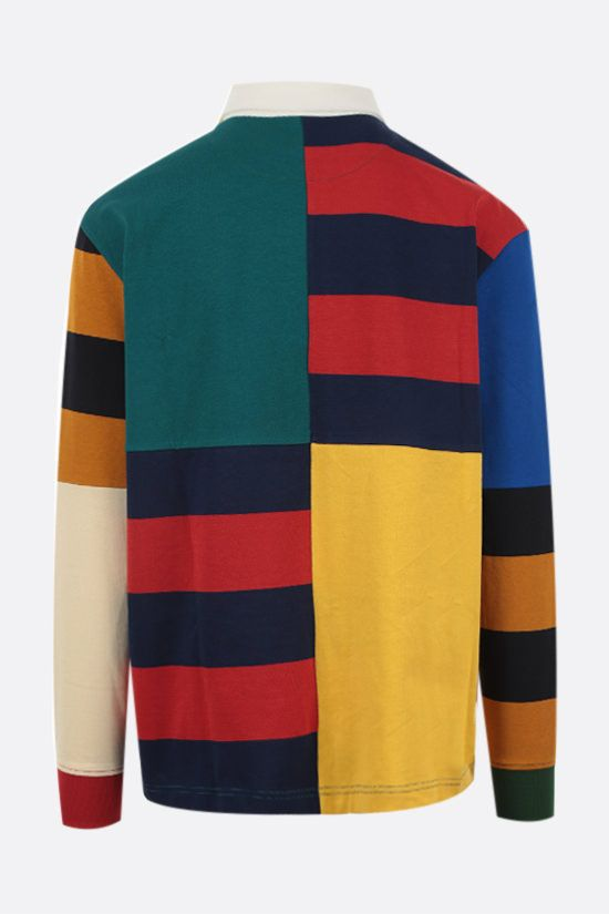 LACOSTE L!VE: colour-block patchwork jersey long-sleeved polo shirt Color Multicolor_2