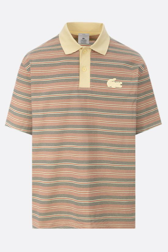 LACOSTE L!VE: striped cotton polo shirt Color Multicolor_1
