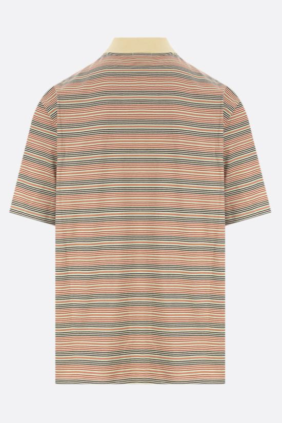 LACOSTE L!VE: striped cotton polo shirt Color Multicolor_2