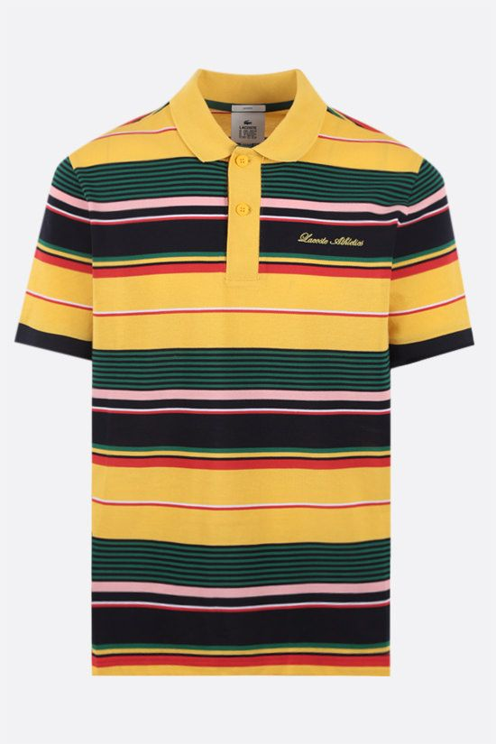 LACOSTE L!VE: Lacoste Athletics embroidered cotton polo shirt Color Multicolor_1