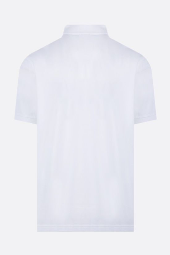 LACOSTE L!VE: metal logo stretch cotton polo shirt Color White_2