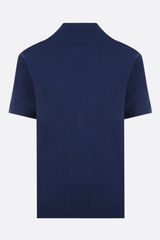LACOSTE L!VE: metal logo cotton polo shirt Color Blue_2