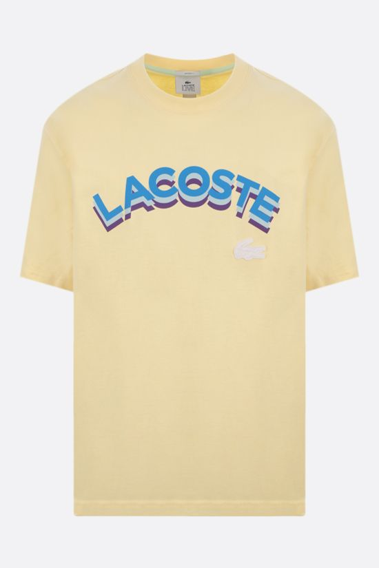 LACOSTE L!VE: logo print cotton t-shirt Color Neutral_1