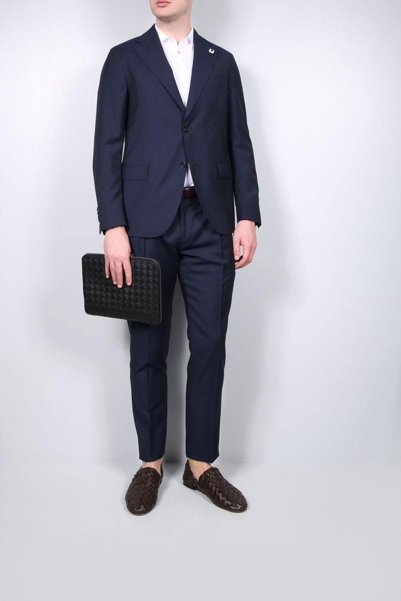 LARDINI: lightweight wool two-pieces suit Color Blue_2