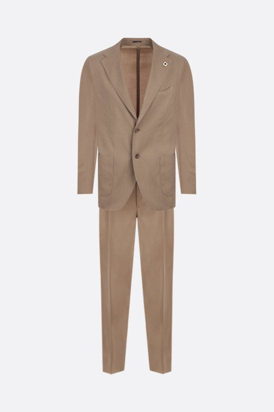 LARDINI: lightweight wool two-pieces suit Color Neutral_1