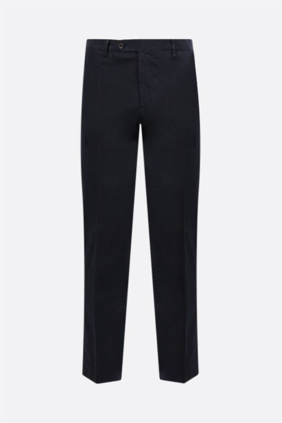 LARDINI: stretch cotton pants Color Blue_1