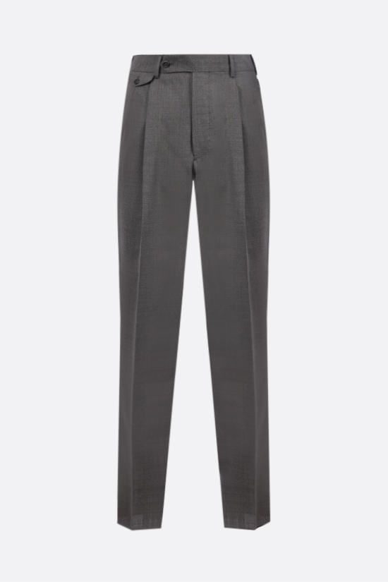 LARDINI: darted wool pants Color Grey_1