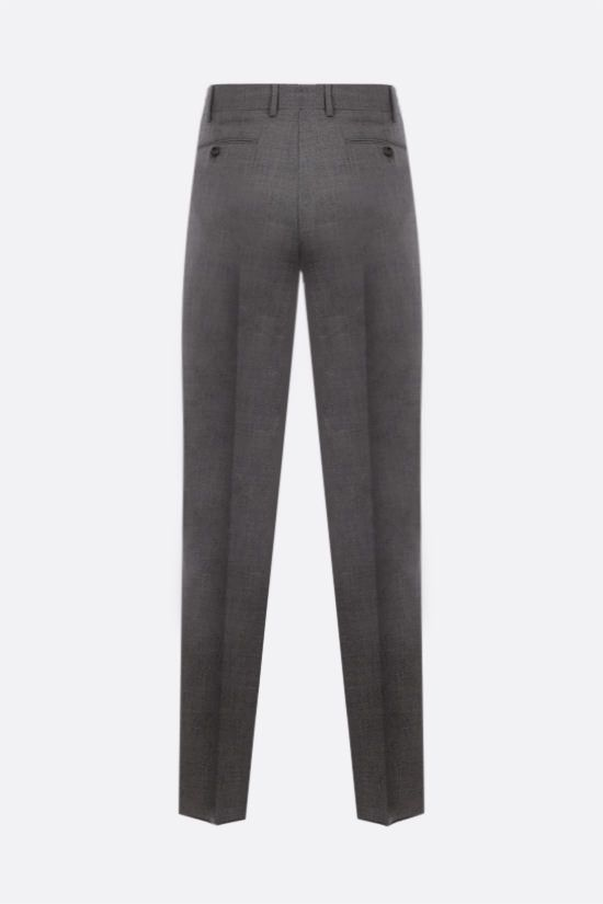 LARDINI: darted wool pants Color Grey_2