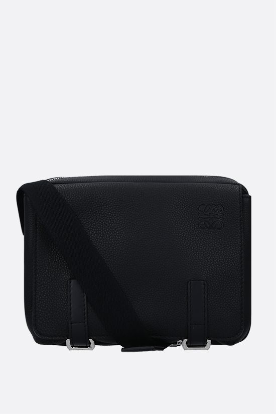 LOEWE: Military XS grainy leather messenger bag Color Black_1
