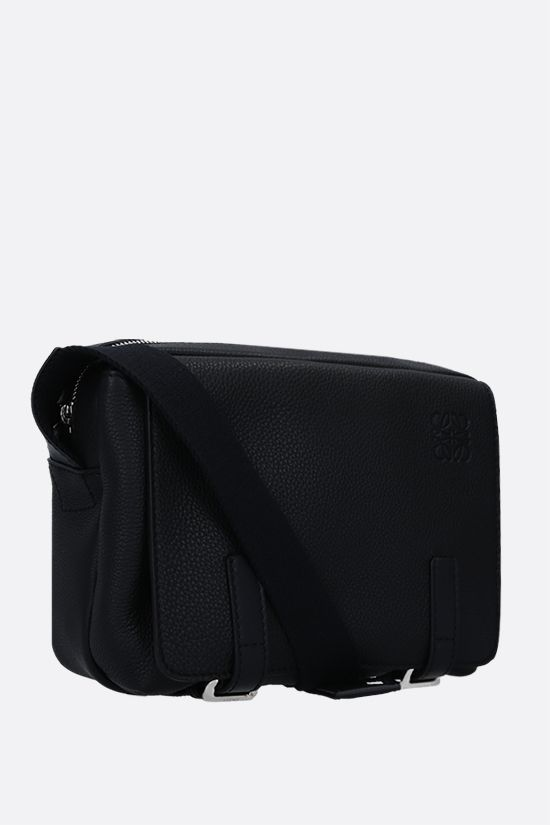 LOEWE: Military XS grainy leather messenger bag Color Black_2