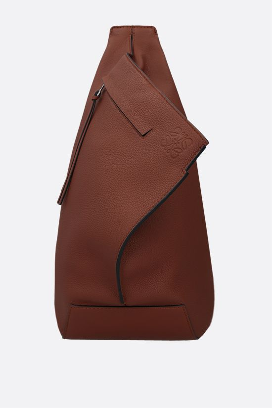 LOEWE: Anton small soft grainy leather one-shoulder backpack Color Brown_1