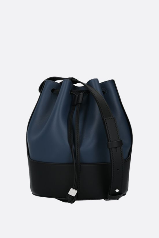 LOEWE: Balloon small smooth leather bucket bag Color Blue_1