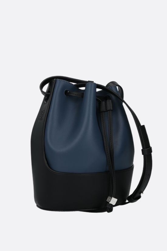 LOEWE: Balloon small smooth leather bucket bag Color Blue_2