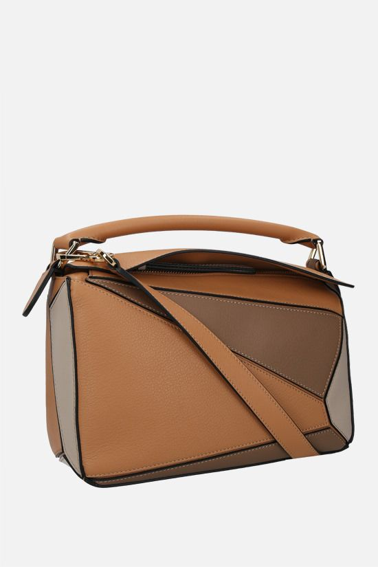 LOEWE: Puzzle small handbag in Classic leather Color Multicolor_2