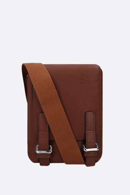 LOEWE: MIlitary XS grainy leather crossbody bag Color Brown_1