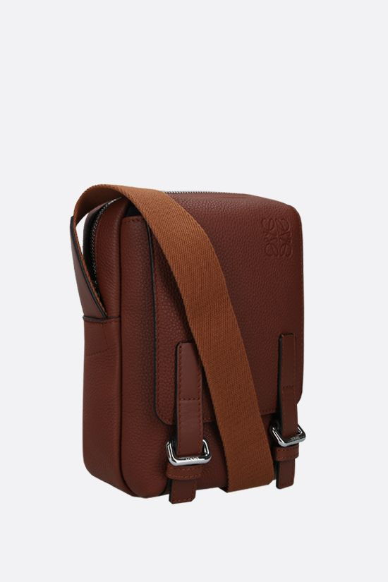 LOEWE: MIlitary XS grainy leather crossbody bag Color Brown_2