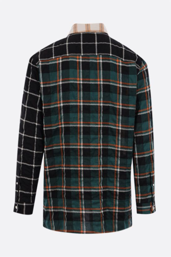 LOEWE: oversize multi-panel cotton blend shirt Color Multicolor_2