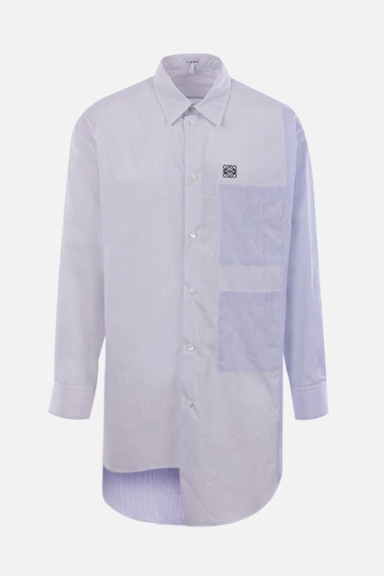 LOEWE: oversize multi-panel cotton shirt Color Multicolor_1