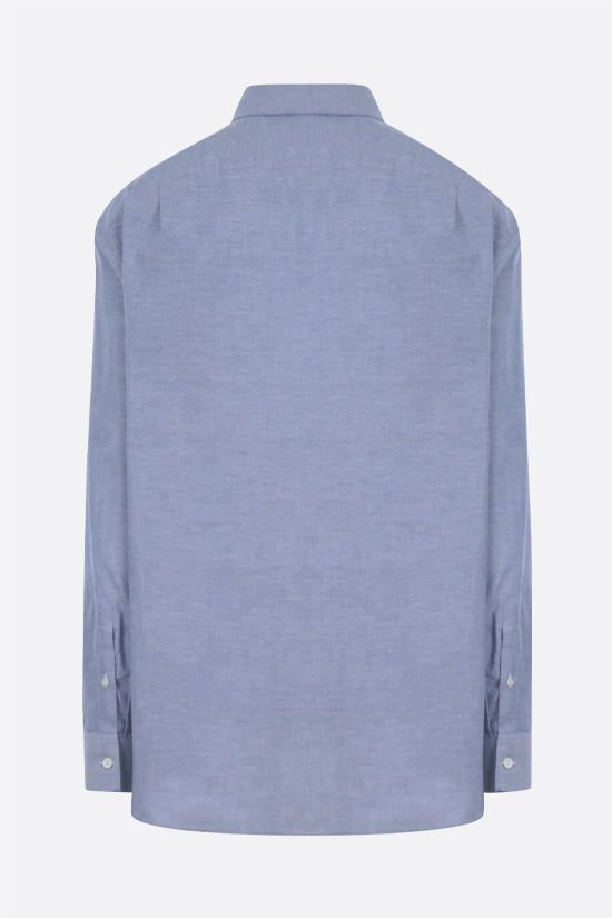 LOEWE: Anagram embroidered cotton shirt Color Blue_2