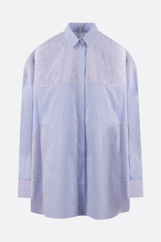 LOEWE: oversize patchwork cotton shirt Color White_1