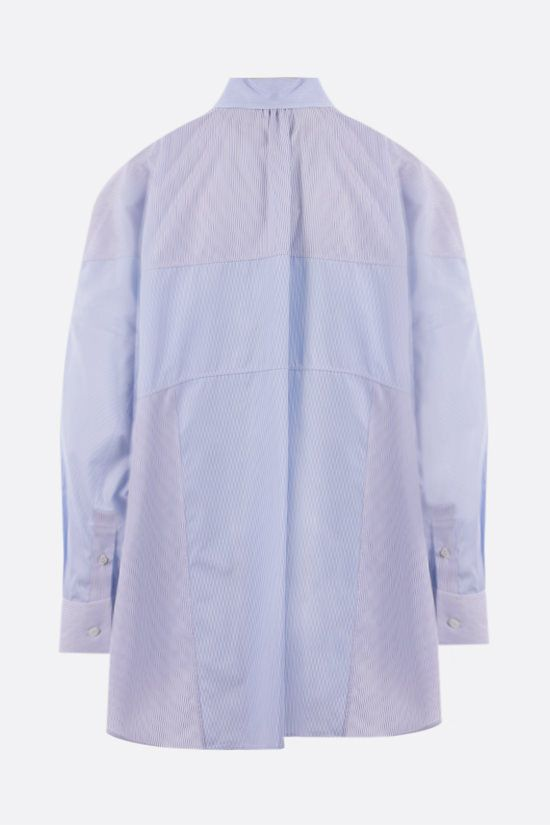 LOEWE: oversize patchwork cotton shirt Color White_2