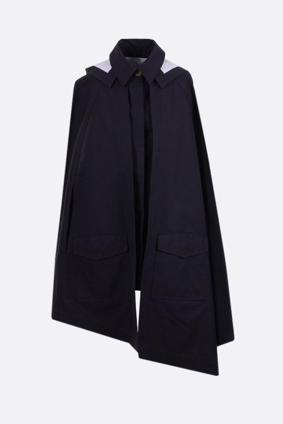 LOEWE: Anagram logo cotton cape Color Blue_1