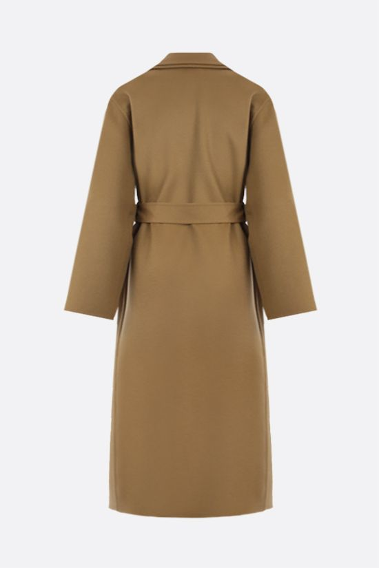 LOEWE: wool cashmere blend wrap coat Color Brown_2