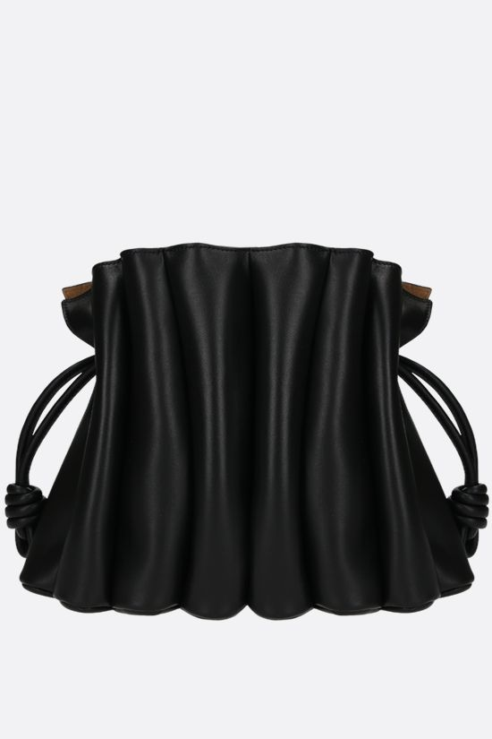 LOEWE: Flamenco Ondas smooth leather clucth Color Black_3