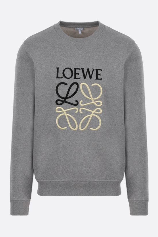 LOEWE: Anagram cotton sweatshirt Color Grey_1