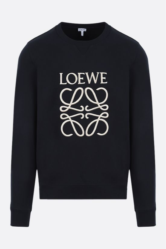 LOEWE: Anagram cotton sweatshirt Color Blue_1