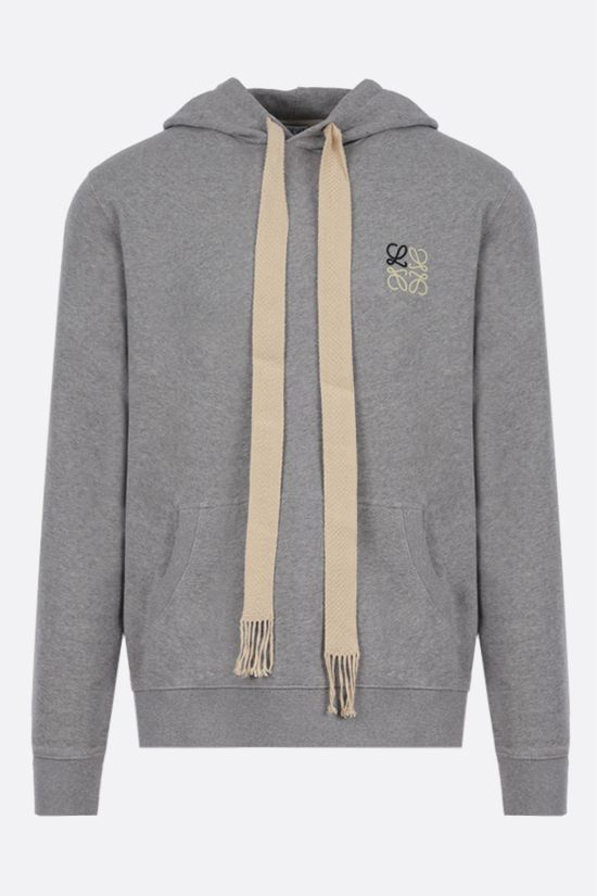 LOEWE: Anagram cotton hoodie Color Grey_1