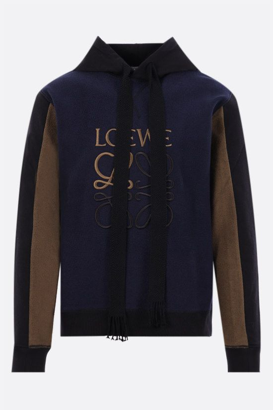 LOEWE: Anagram cotton hoodie Color Blue_1