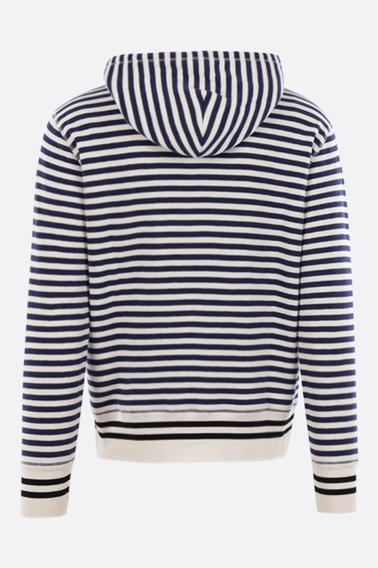 LOEWE: Anagram striped cotton hoodie Color Neutral_2