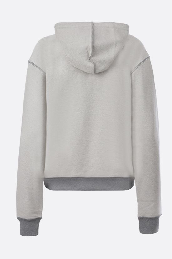 LOEWE: Loewe Anagram embroidered cotton hoodie Color Grey_2