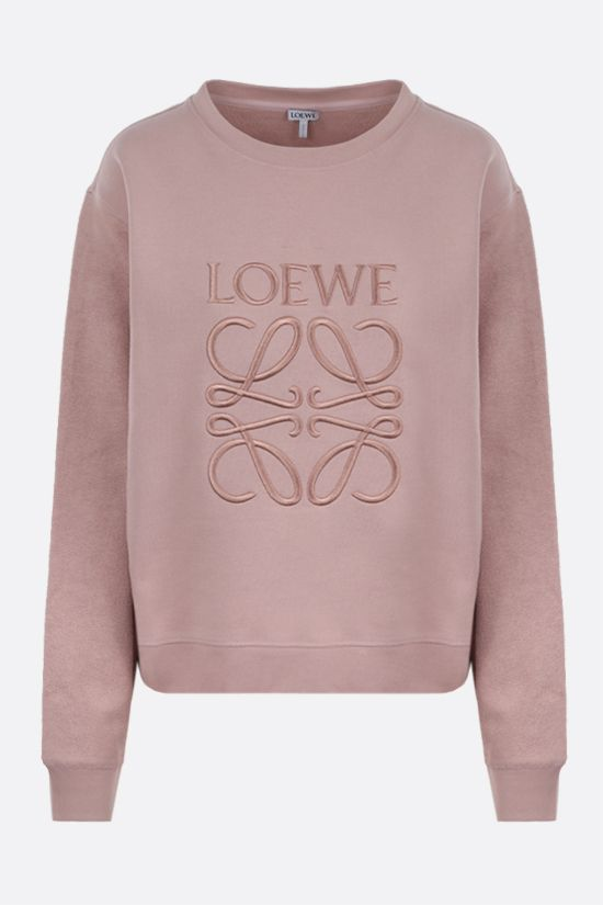 LOEWE: Anagram cotton sweatshirt Color Pink_1