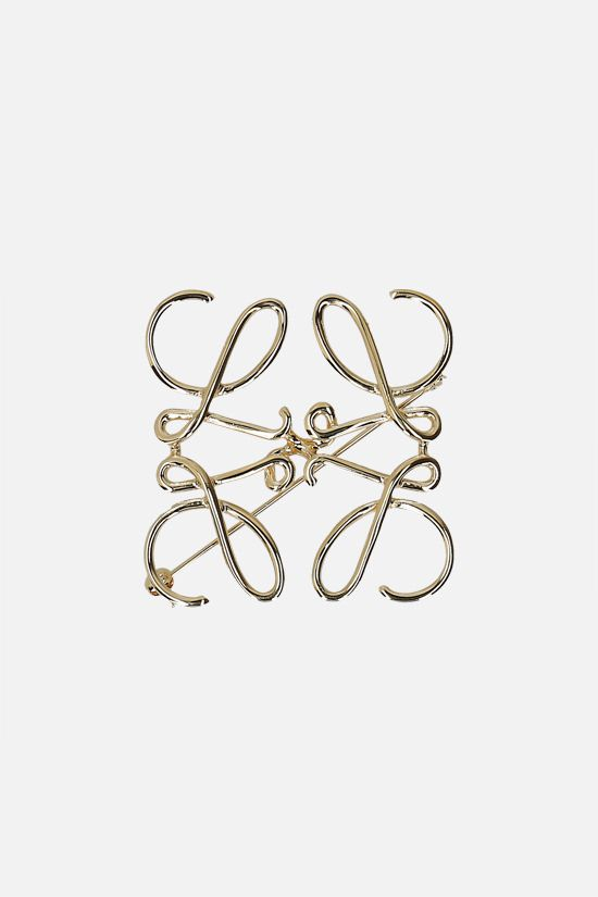 LOEWE: Anagram brass brooch Color Gold_1