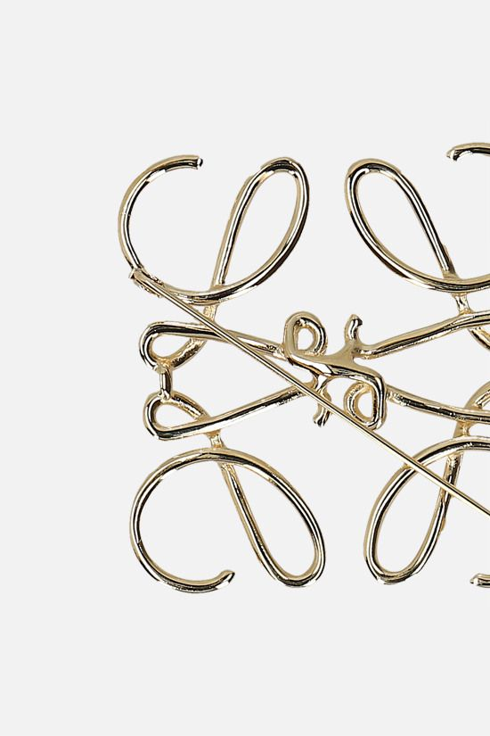 LOEWE: Anagram brass brooch Color Gold_2