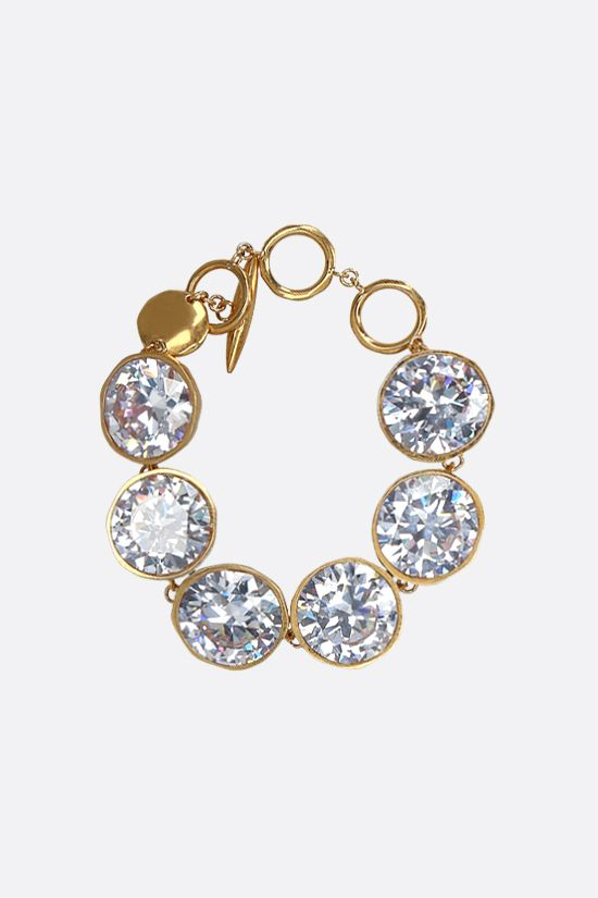 LOEWE: Sphere crystal-embellished brass bracelet Color Gold_1