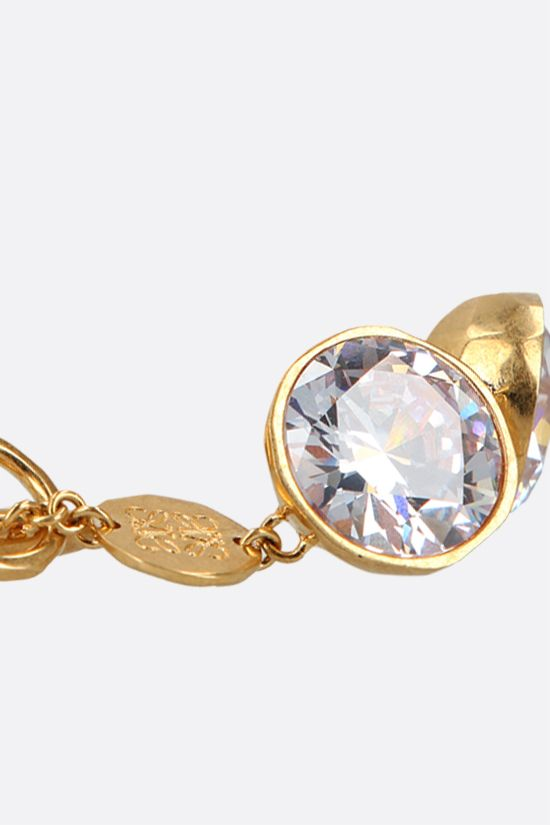 LOEWE: Sphere crystal-embellished brass bracelet Color Gold_2